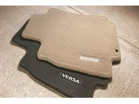 Nissan 999E2-4Y001 Carpeted Floor Mats;Sandstone Interior with Trunk Release