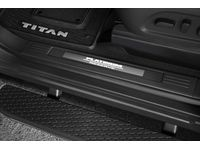 Nissan Titan Illuminated Kick Plate - Platinum Reserve, 2 Piece, Front Only - 999G6-W8PL0