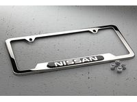 Nissan Armada Nissan Chrome License Plate Frame and Valve Stem Caps Package - 999MB-SX001