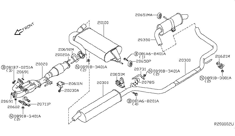 2007 Nissan Quest Parts Diagram