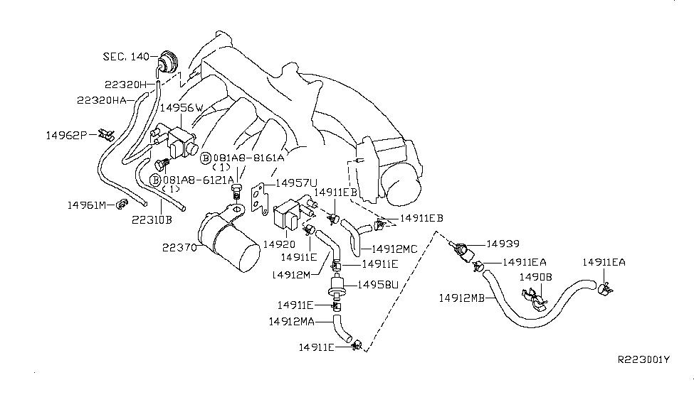 2004 nissan quest engine control vacuum piping  wrg 7447] 2004 nissan altima engine diagram