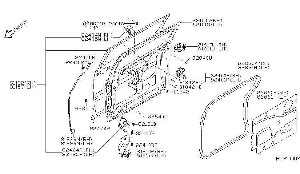2004 Nissan Quest Parts Diagram