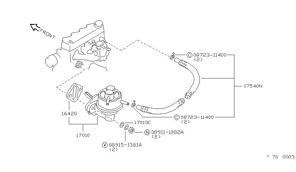 1985 nissan sentra fuel pump