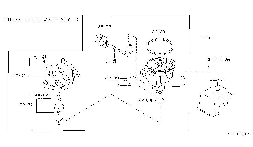 1991 Nissan Stanza Distributor & Ignition Timing Sensor