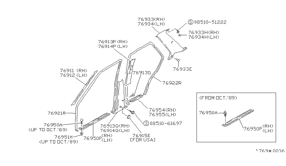 7691165E02  Genuine    Nissan    Parts