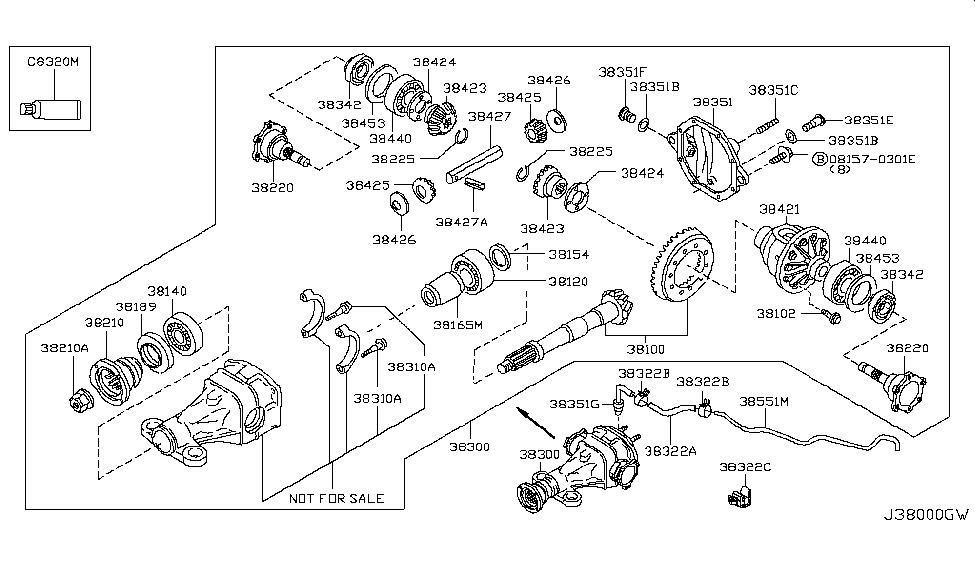 2011 Nissan Pathfinder Rear Final Drive - Nissan Parts Deal