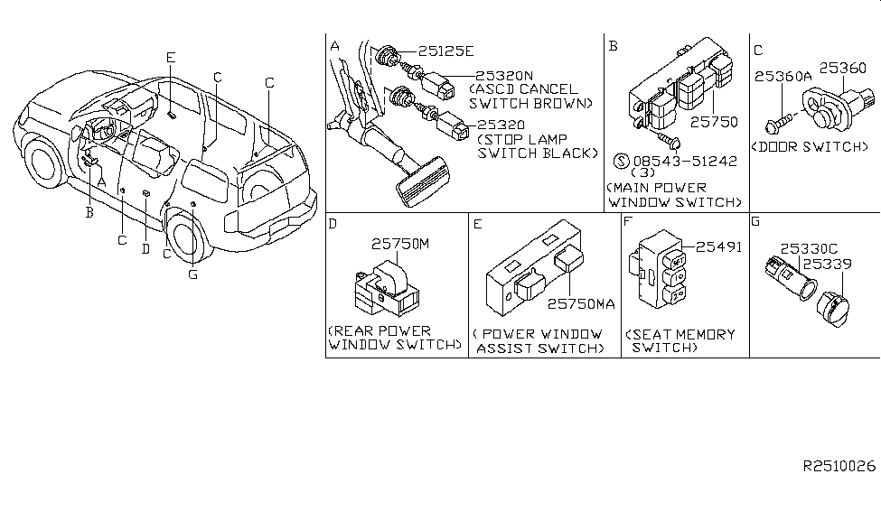 2008 Nissan Pathfinder Switch Thumbnail 1