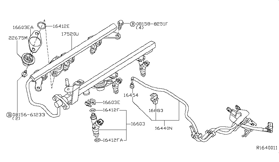 2005 Nissan Pathfinder Fuel Strainer & Fuel Hose