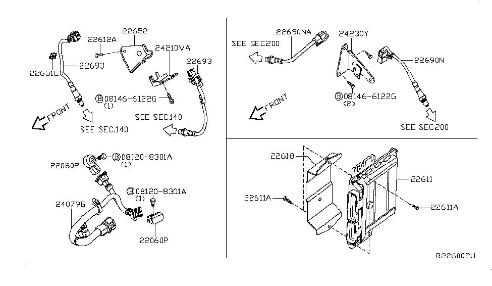 23710ZP40A   Genuine Nissan  23710ZP40A    ENGINE    CONTROL MODULE