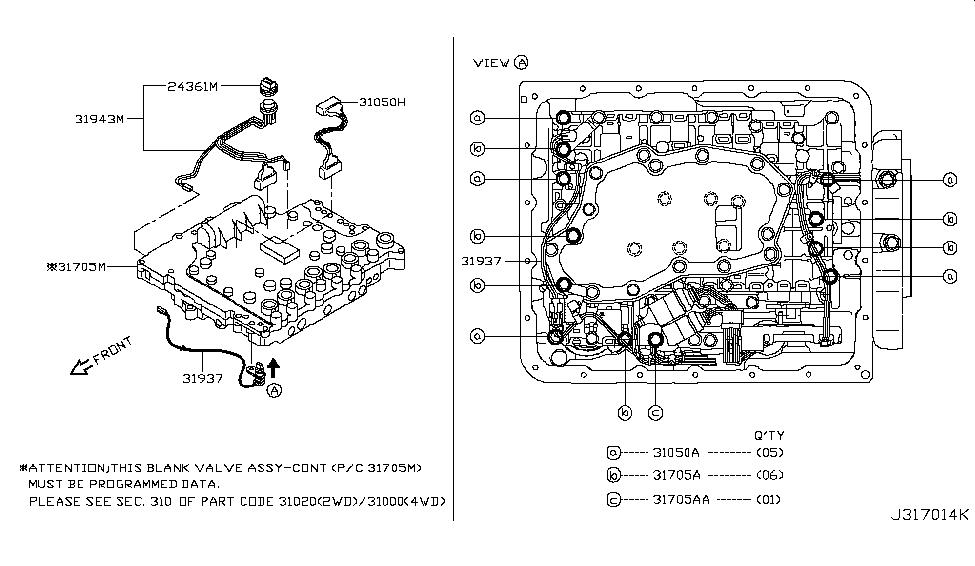 31705-08X5D - Genuine Nissan Parts