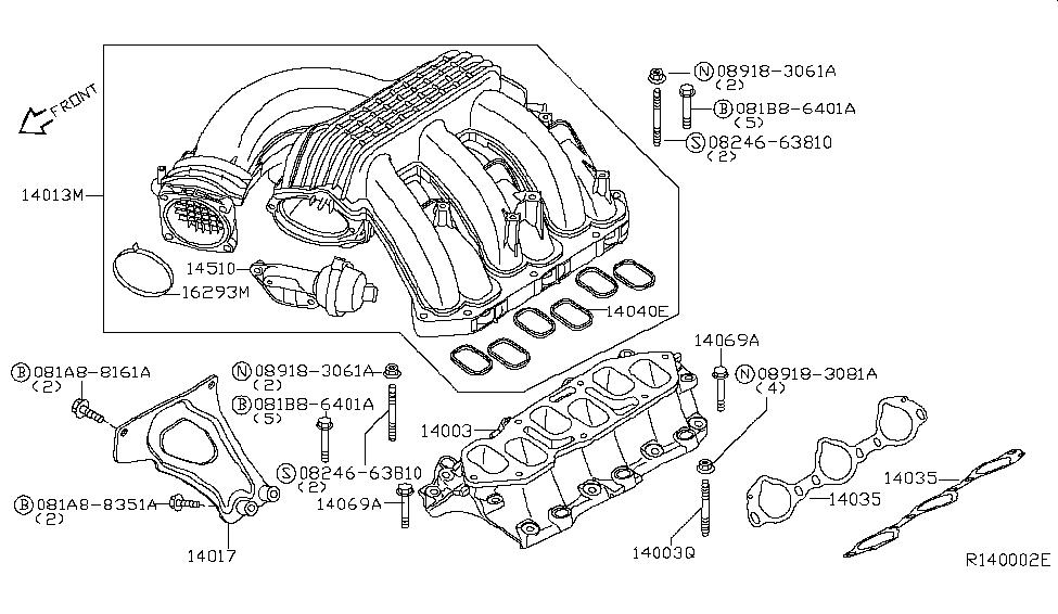 2008 nissan pathfinder manifold - thumbnail 1