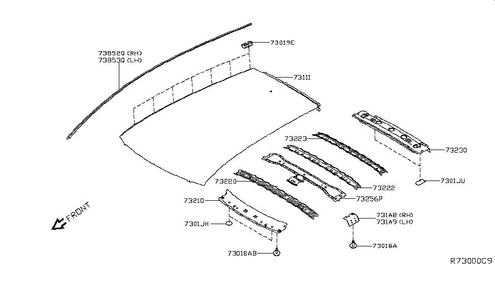 2018 Nissan Leaf Roof Panel & Fitting - Nissan Parts Deal