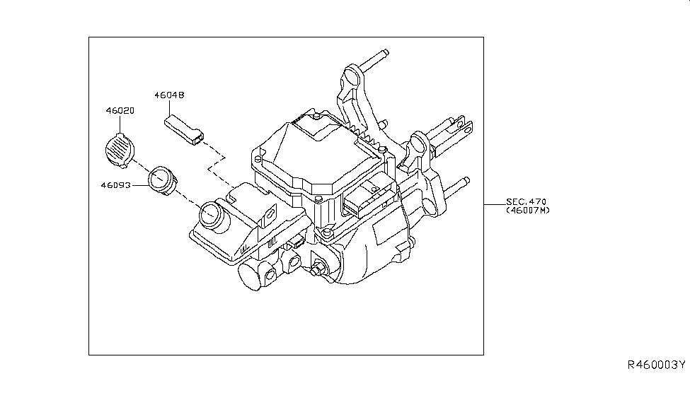 2019 Nissan Leaf Brake Master Cylinder