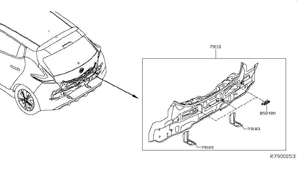 2018 Nissan Leaf Rear,Back Panel & Fitting - Nissan Parts Deal