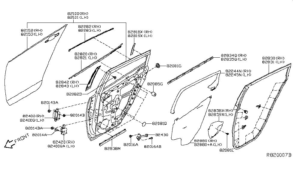 2018 Nissan Leaf Rear Door Panel & Fitting - Nissan Parts Deal