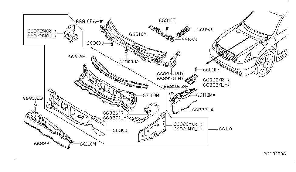 2006 nissan altima cowl top \u0026 fitting nissan parts deal 2005 Nissan Parts Diagram 2006 nissan altima cowl top \u0026 fitting