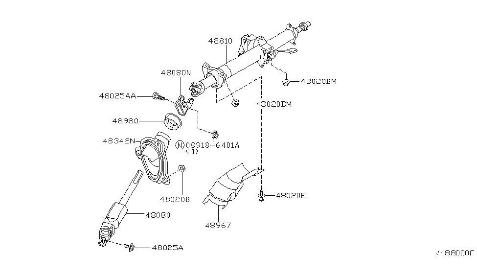 2003 Nissan Altima Steering Column - Nissan Parts Deal