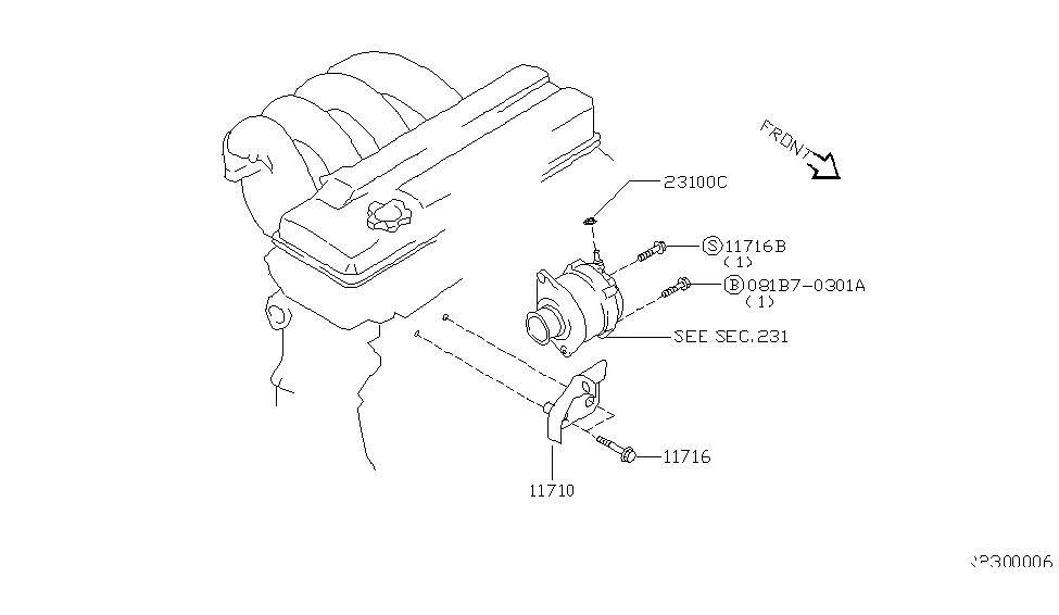 Perfect 2003 Nissan Altima Alternator Fitting   Thumbnail 1