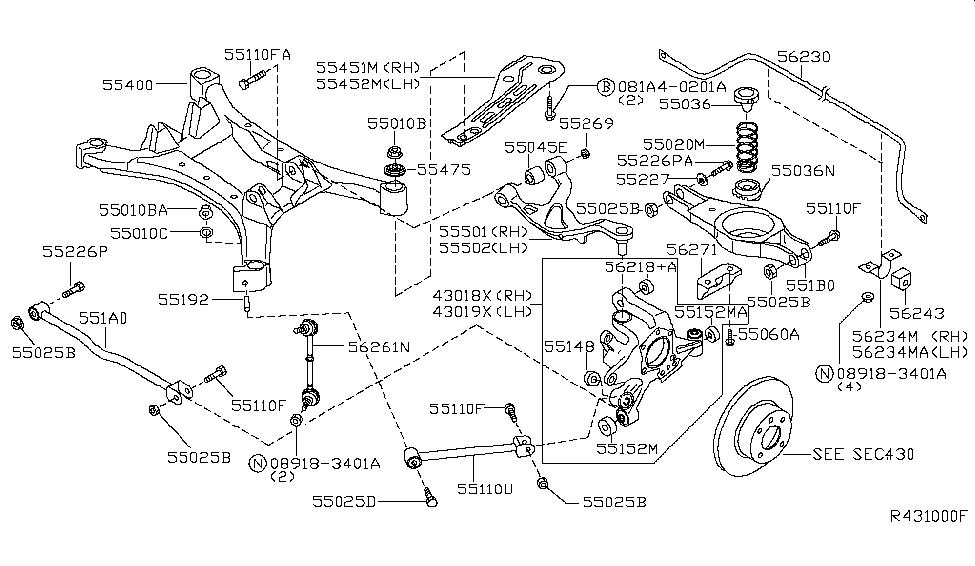55020 8j014 genuine nissan 550208j014 spring rear suspension2005 nissan altima rear suspension