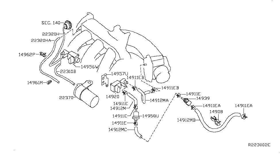 Nissan 14912-9J50A