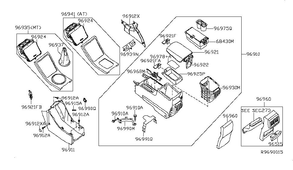 2006 Nissan Altima Console Box - Nissan Parts Deal