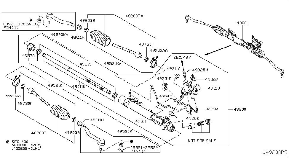 Car & Truck Parts Genuine Nissan Rack 49271-1AA0A