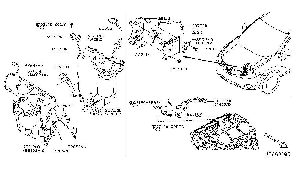 2012 nissan murano suv engine control module