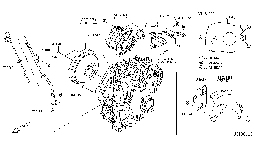 Nissan Murano Transaxle Diagram