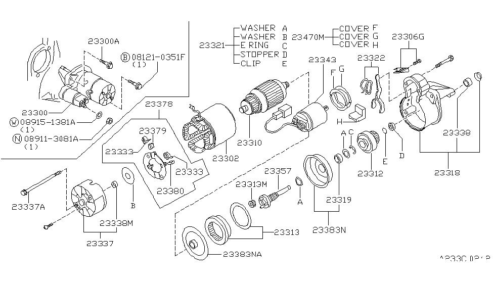 23300 2j261 genuine nissan 233002j261 motor assy starter
