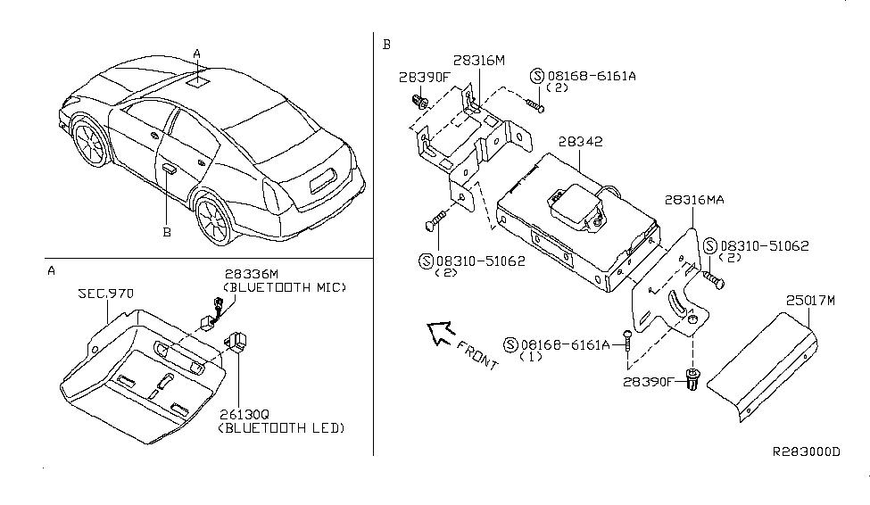 2008 Nissan Maxima Telephone - Nissan Parts Deal