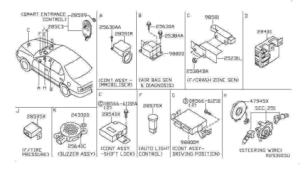 2006 nissan 350z engine diagram 2006 nissan 350z wiring diagram 28590 c9968 genuine nissan 28590c9968 antenna assy