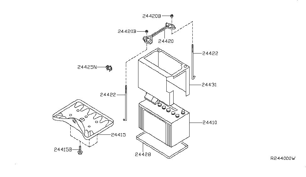 factory nissan parts diagram nissan parts diagram battery 24410-9b900 | genuine nissan #244109b900 battery #4