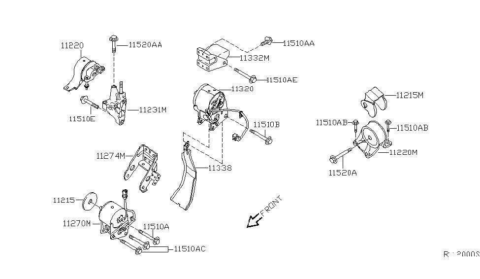 2006 nissan maxima engine diagram