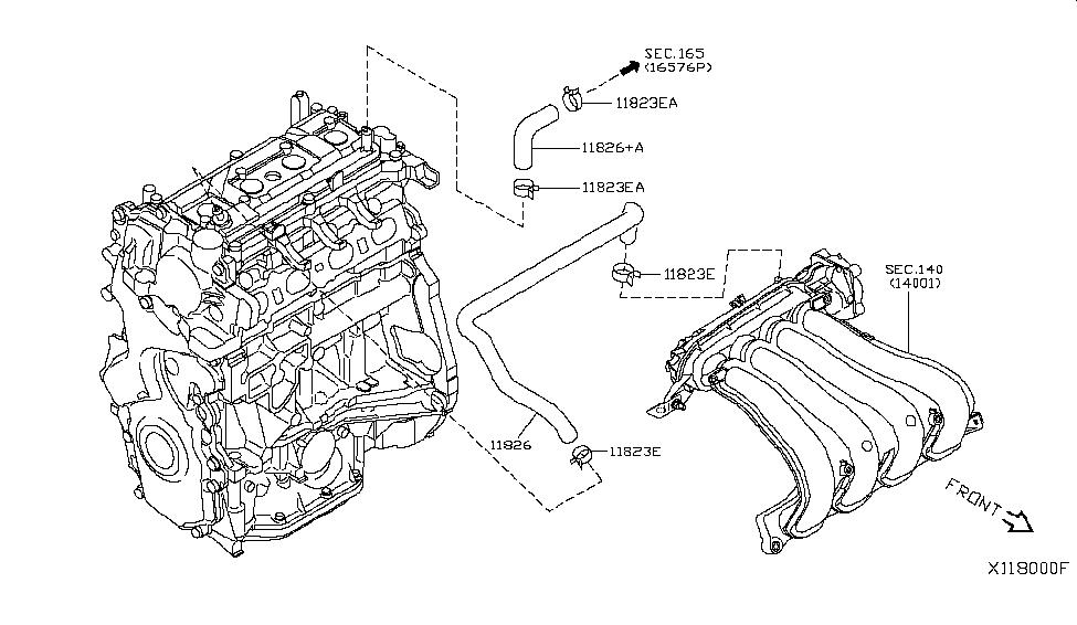 2007 Nissan Versa Hatchback Crankcase Ventilation