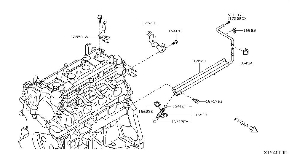 2010 Nissan Versa Hatchback Fuel Strainer & Fuel HoseNissan Parts