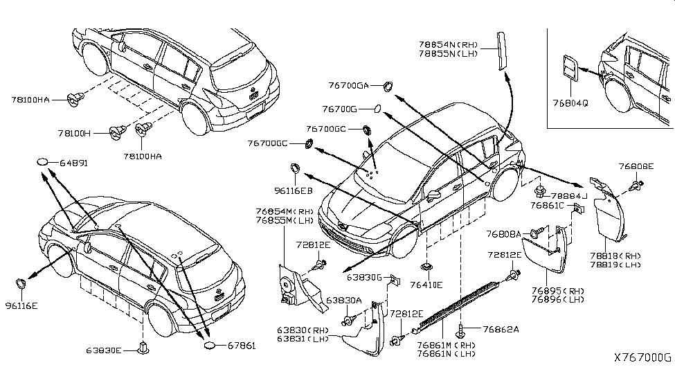 2008 Nissan Versa Hatchback Parts