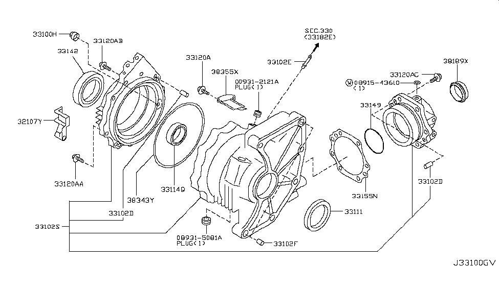 2012 Nissan Murano CrossCabriolet Transfer Case