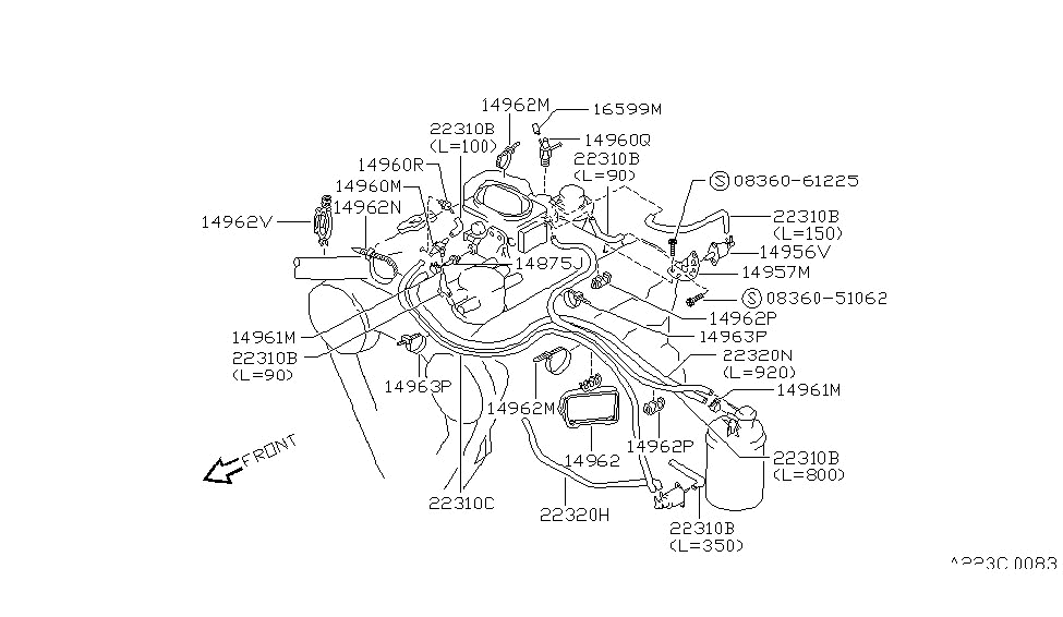 1994 nissan pathfinder engine control vacuum piping 2008 nissan pathfinder engine diagram 1994 pathfinder engine diagram #1