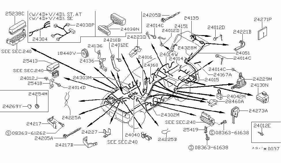 1994 nissan pathfinder wiring  body
