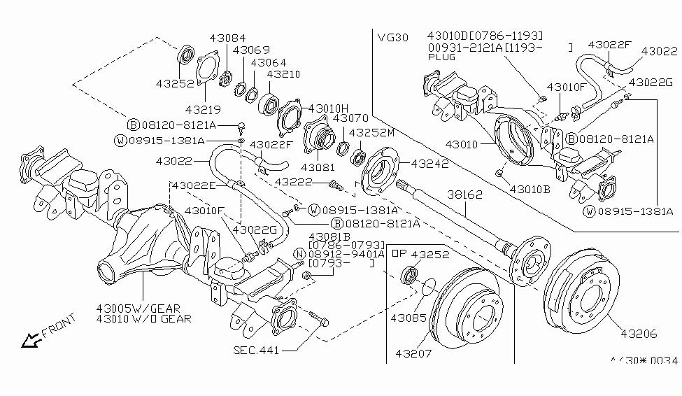 nissan pathfinder rear axle