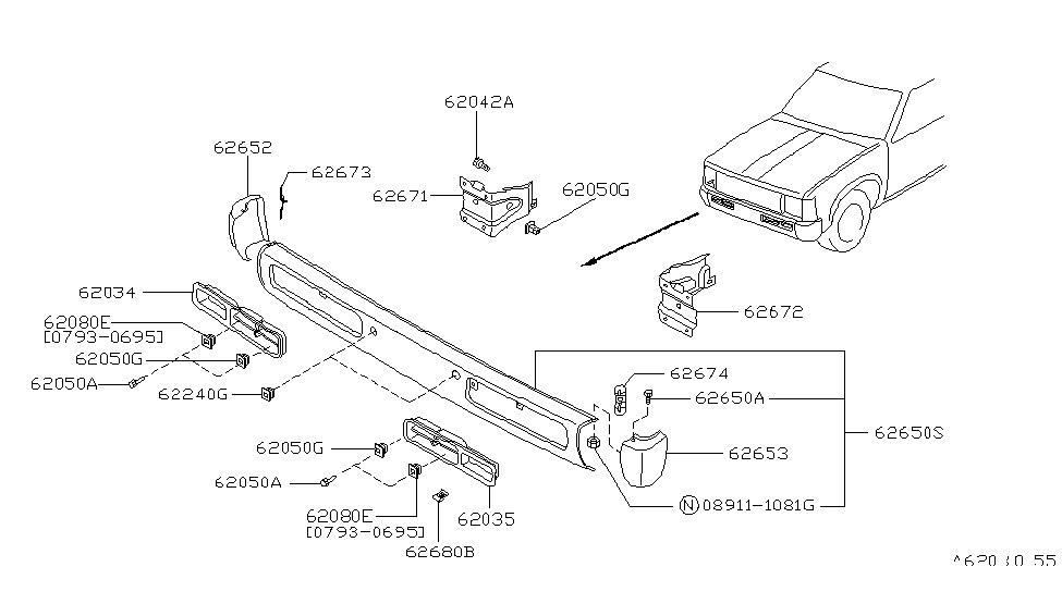 62257-55G00 - Genuine Nissan Parts