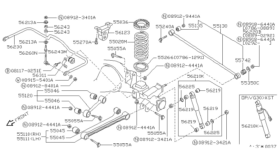 1995 Nissan Pathfinder Rear Suspension