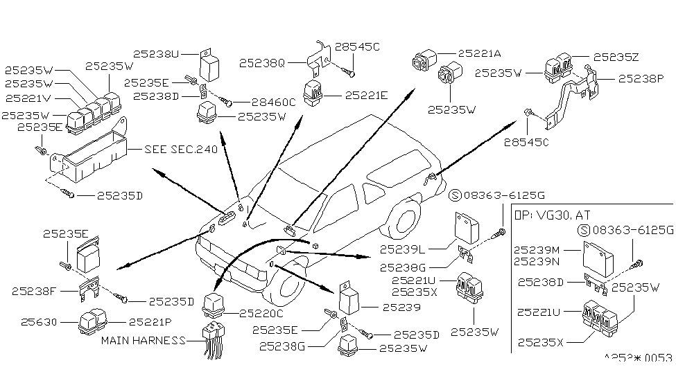1995 nissan pathfinder relay nissan parts deal 1995 Nissan Pathfinder Headlight Wiring Diagram nissan 240sx wiring diagram wiring