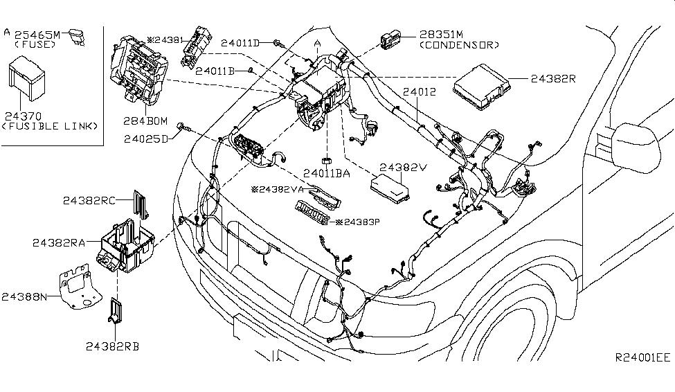Nissan Nv3500 Transmission Wiring Harnes