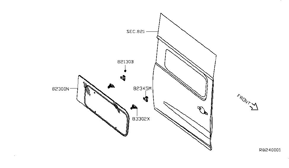 2014 Nissan NV 2500 Slide Door Window - Nissan Parts Deal
