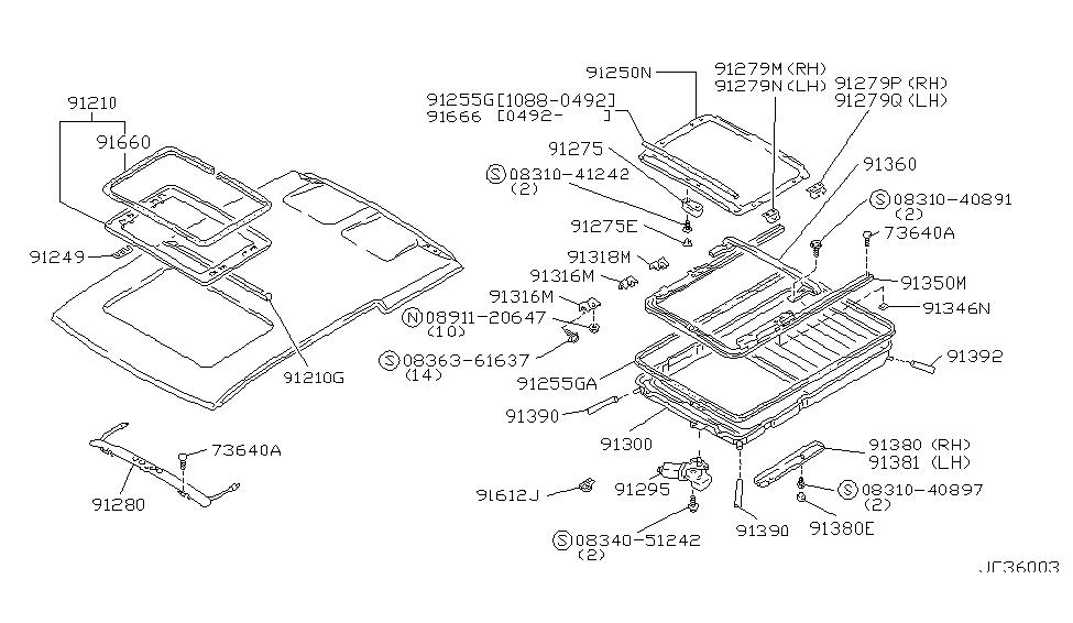 1989 Nissan Axxess Sun Roof Parts - Nissan Parts Deal