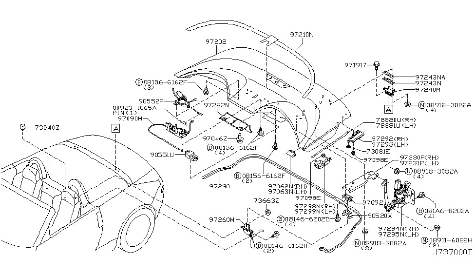 2003 Nissan 350Z Open Roof Parts - Nissan Parts Deal