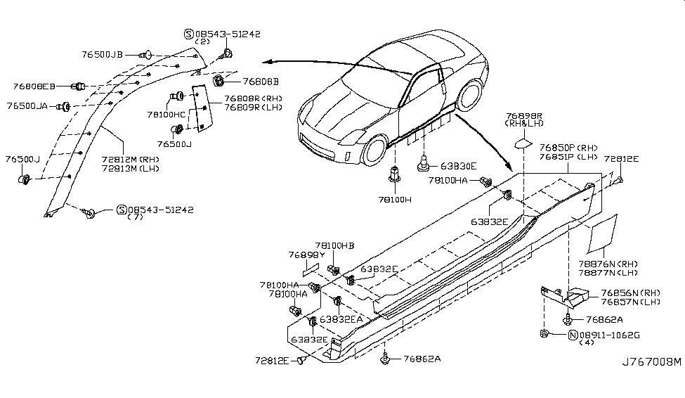 2006 Nissan 350z Body Side Ing