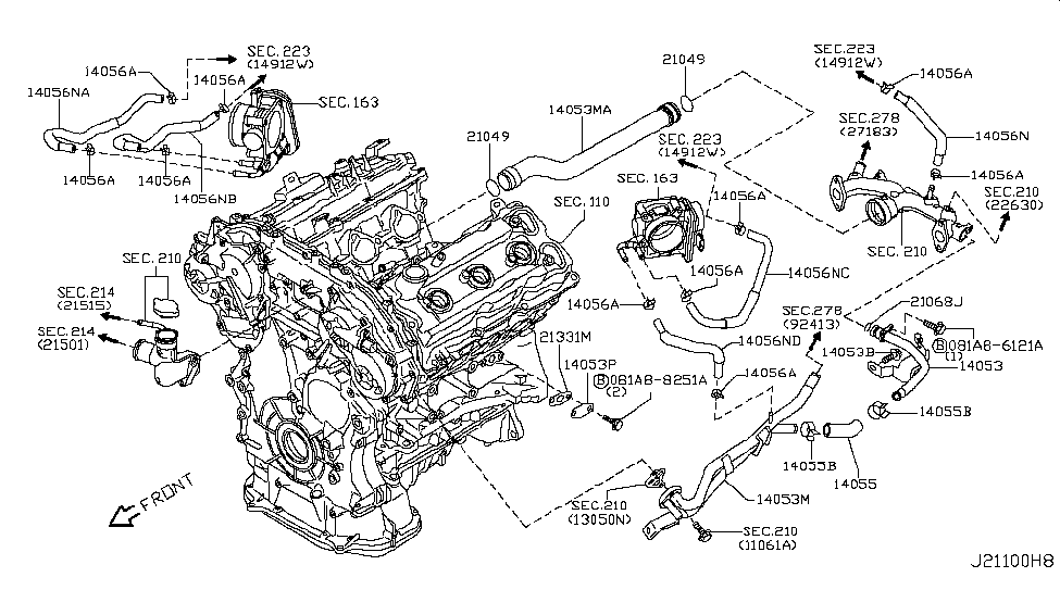 2005 350z engine diagram 2008 nissan 350z water hose & piping - nissan parts deal
