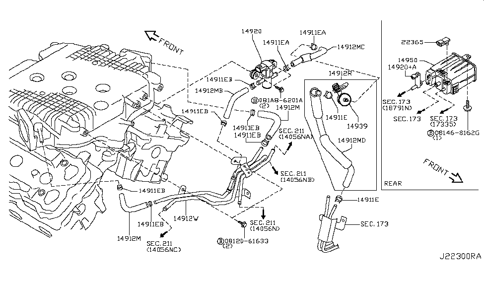 14912-EV11A   Genuine Nissan #14912EV11A HOSE EVAPO CANISTER-A on 2006 nissan pathfinder transmission diagram, nissan 350z timing chain, mclaren p1 engine diagram, audi s6 engine diagram, 2004 nissan altima belt routing diagram, porsche 356 engine diagram, mercedes c300 engine diagram, chevrolet impala engine diagram, nissan altima motor mounts diagram, bmw m3 engine diagram, acura tsx engine diagram, infiniti m45 engine diagram, mazdaspeed 6 engine diagram, nissan 350z specs, dodge 360 engine diagram, nissan sentra stereo wiring diagram, ford gt engine diagram, nissan 350z fuel filter, 2005 nissan pathfinder cooling system diagram, cadillac xlr engine diagram,